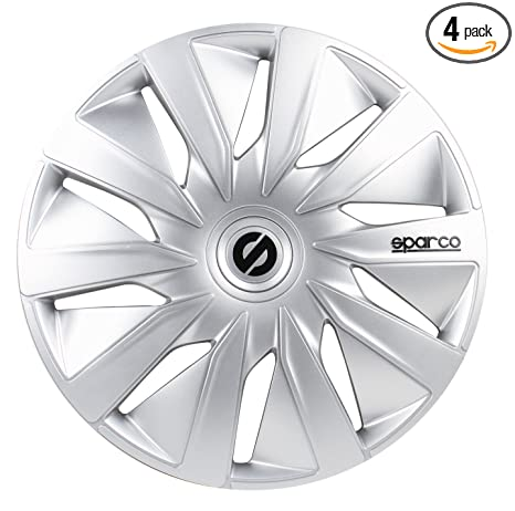 Amazon.com: Sparco SPC1690SV Lazio Wheel Covers, Silver, Set of 4, 16