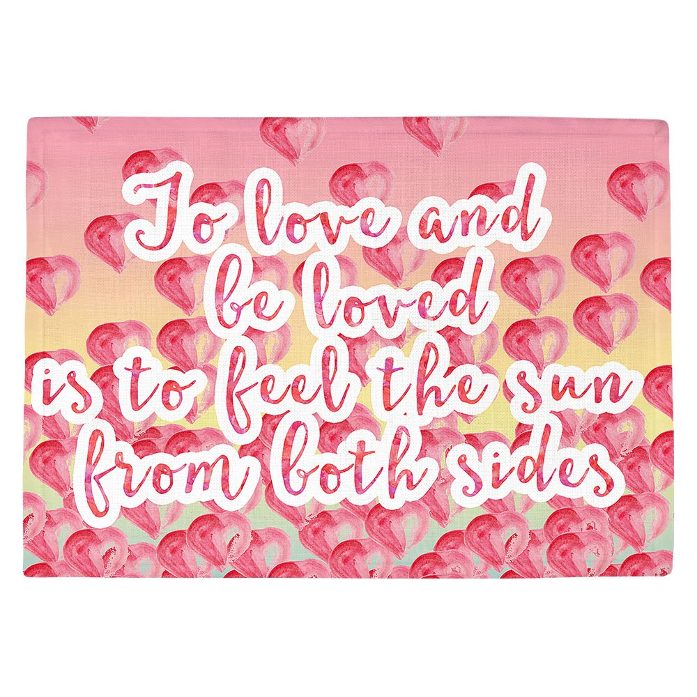 DIANOCHEキッチンPlaceマットZara Martina – To Be Loved Set of 4 Placemats PM-ZaraMartinaToBeLoved2 Set of 4 Placemats  B01EXSJR4E