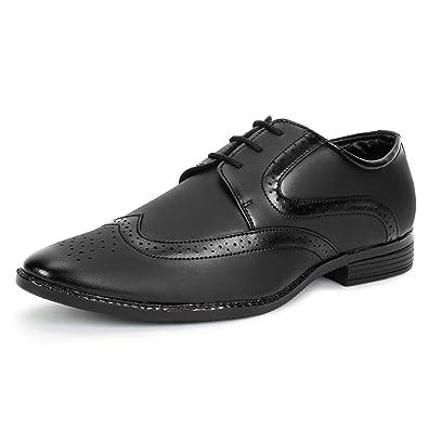 7593fbf6024285 BUWCH Men Brown Formal Brogue Shoe: Buy Online at Low Prices in ...