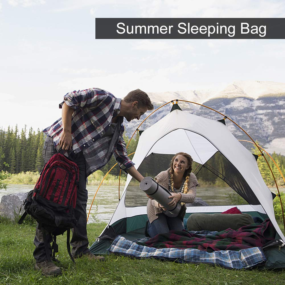 SueH Design Sleeping Bag Liner Long and Lightweight for Adult Use in Hotel Motel and Outdoor Hostel Summer Sleeping Bag with Zippered Vent