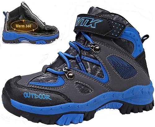 Randonnée Bottes D'hiver Vitike Chaussures De Léger En Coton Shoes Pour Neige Walking Trekking Enfants Garçon Outdoor Sporty cRL4Ajq3S5