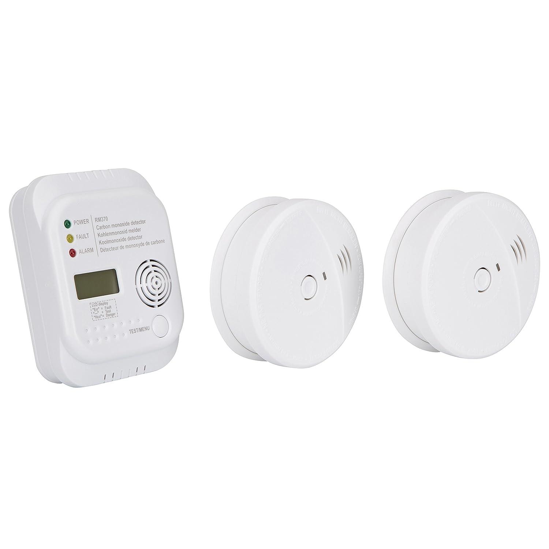 Smartwares FSSCO-15 Detectores de CO2, Calor, Humo y extintor 9 V, Blanco: Amazon.es: Bricolaje y herramientas