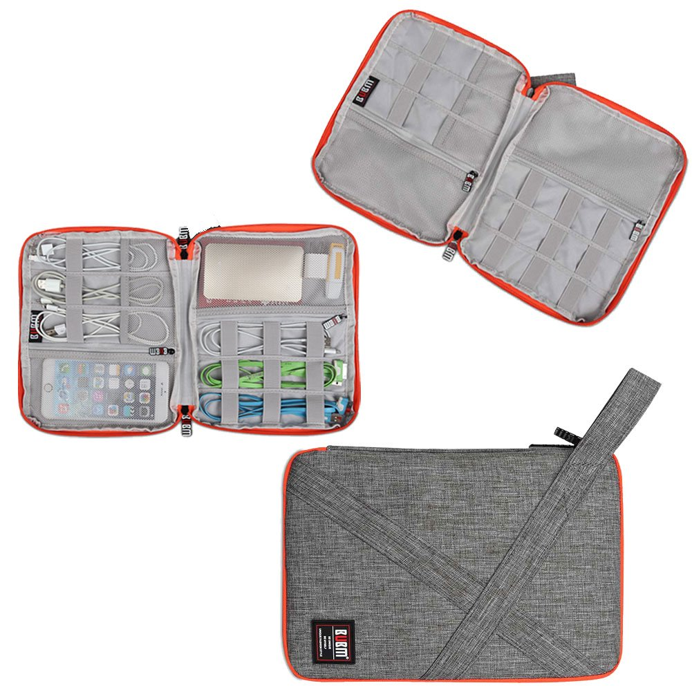 17c124224a91 Travel Organizer, BUBM Universal Travel Gear Organizer/Electronics  Accessories Bag/Cable Bag/USB Drive Shuttle Case-Grey