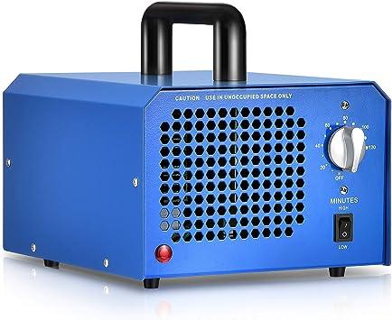 GCSJ Generador de Ozono Comercial 3000 a 7000mg/h con Temporizador Ajustable y Configuración de Flujo, Elimina el olor, el formaldehído y el moho, Aire Esterilizador, Industrial Ozono Purificador: Amazon.es: Bricolaje y herramientas