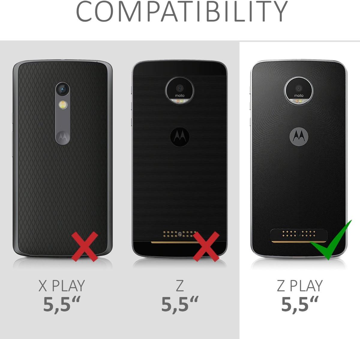 kwmobile Funda Compatible con Motorola Moto Z Play: Amazon.es ...