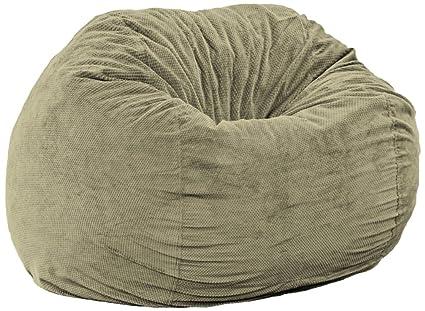 CordaRoyu0027s   Moss Chenille Convertible Bean Bag Chair   Queen