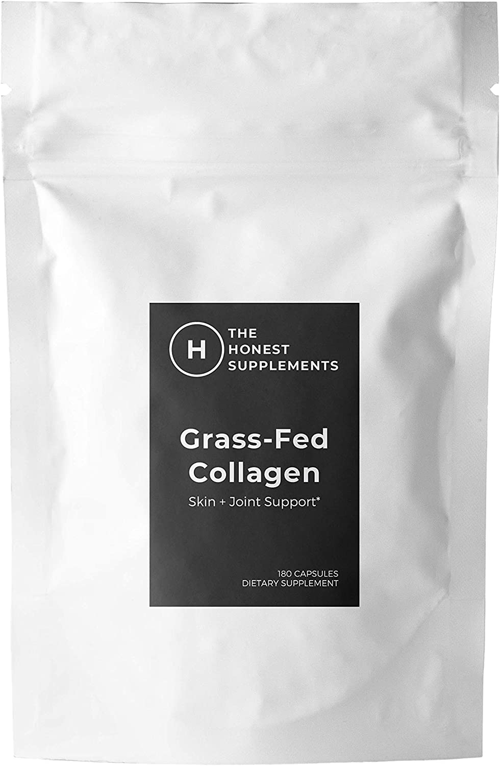 Grass-Fed Pasture Raised Collagen, Non-GMO, Kosher, All Natural & Gluten Free, Freeze-Dried, Non-Defatted, Hormone Free, Unflavored, 90 Grams