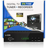 Digital TV Converter Box - UBISHENG U-008 Set-Top Box/TV Box /ATSC Tuner/Antenna Box with TV Tuner, PVR Recording…