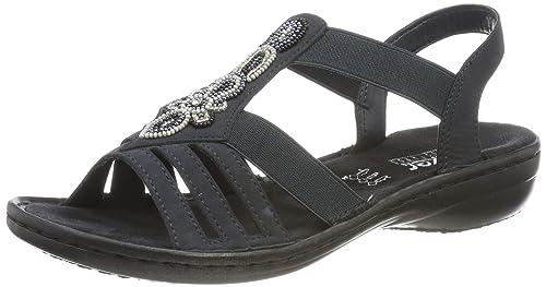 Rieker Damen 628g6 00 Geschlossene Sandalen
