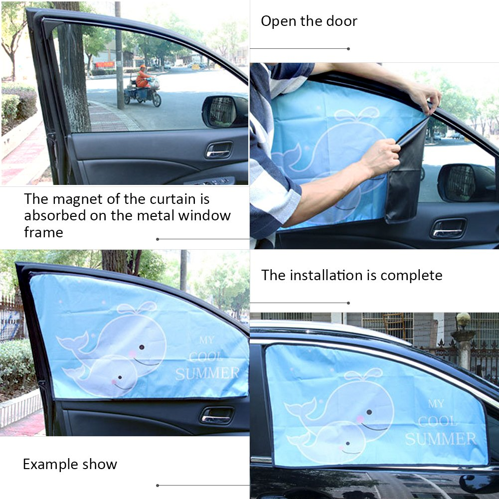 Parasole per finestrino Auto Doppio Spessore Universale Magnetico Cara per Protezione dai Raggi UV