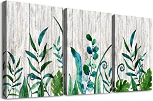 Canvas Wall Art for living room bathroom Wall art Decor for bedroom kitchen decorations Wood grain Canvas Prints green plant painting 12