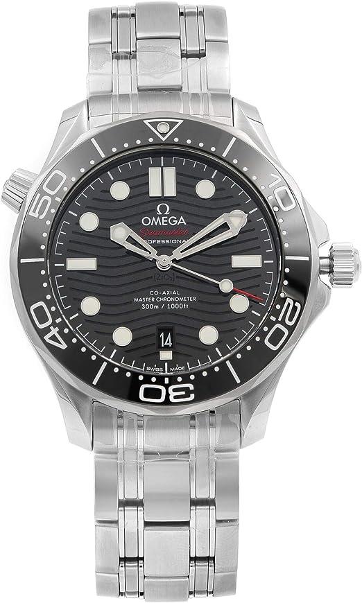 Reloj Omega Seamaster Diver 300 Antimagnético Dial Negro Reloj para Hombre 210.30.42.20.01.001