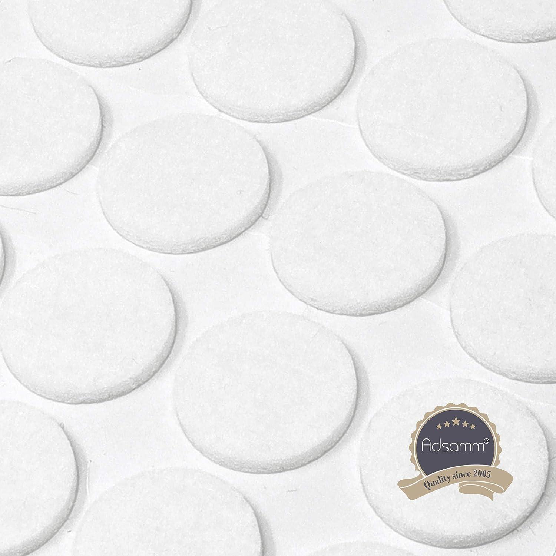 blanco /Ø 14 mm con grosor de 3,5 mm de la m/áxima calidad Adsamm/® 60 x almohadillas de fieltro Protectores de suelo para patas de mueble auto-adhesivos redondo