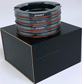 FA55T Hub Centric Rings 66.5mm to 57.1mm OEM or Aftermarket Wheels Import Domestic