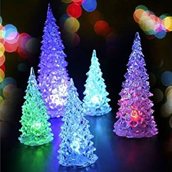 Coffled 1 Pcs Multi Color Changing Led Christmas Tree Decoration Light Xmas Night Light