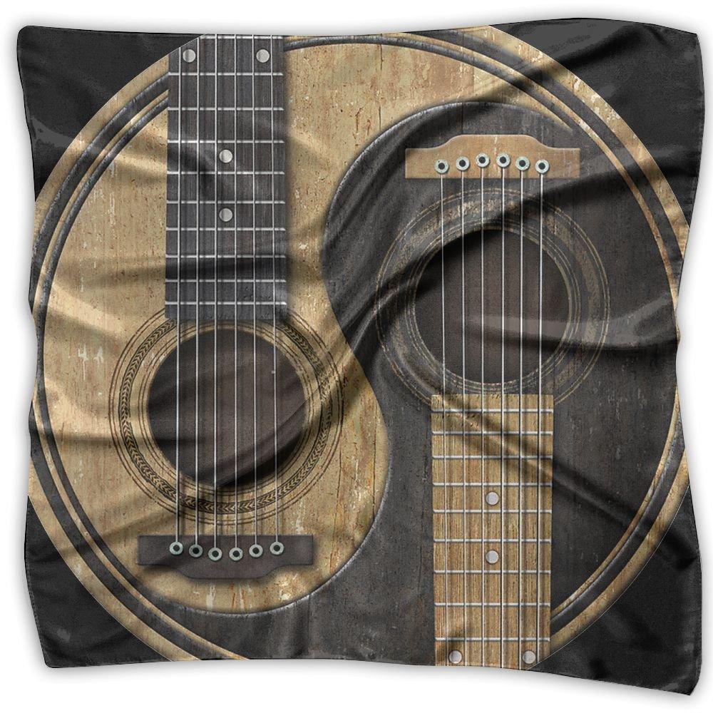 Old And Worn Acoustic Guitars Yin Yang Unisex Silky Scarf Scarf Shawl Bandana Scarves Set