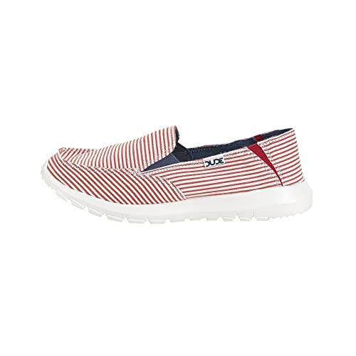 Slip On co Stripes Women's Amazon Hey Dude Red Shoes Mule uk Ava 4Uc74YFqw