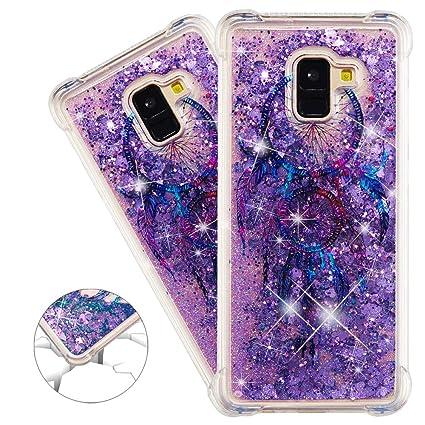 41d47b53d5ff62 HMTECHUS A8 Plus 2018 case Unique Creative 3D pattern quicksand Diamonds  Floating Glitter Flowing Liquid Shockproof