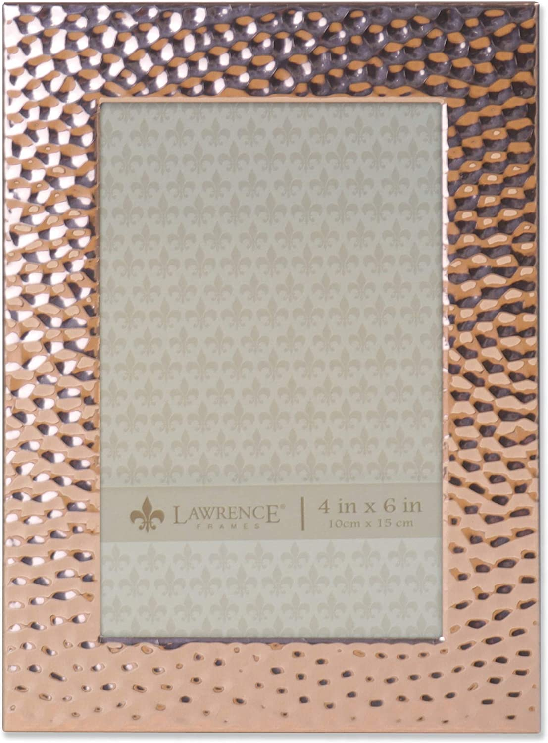 Lawrence Frames Hammered Reflections Frame, 4 by 6, Copper
