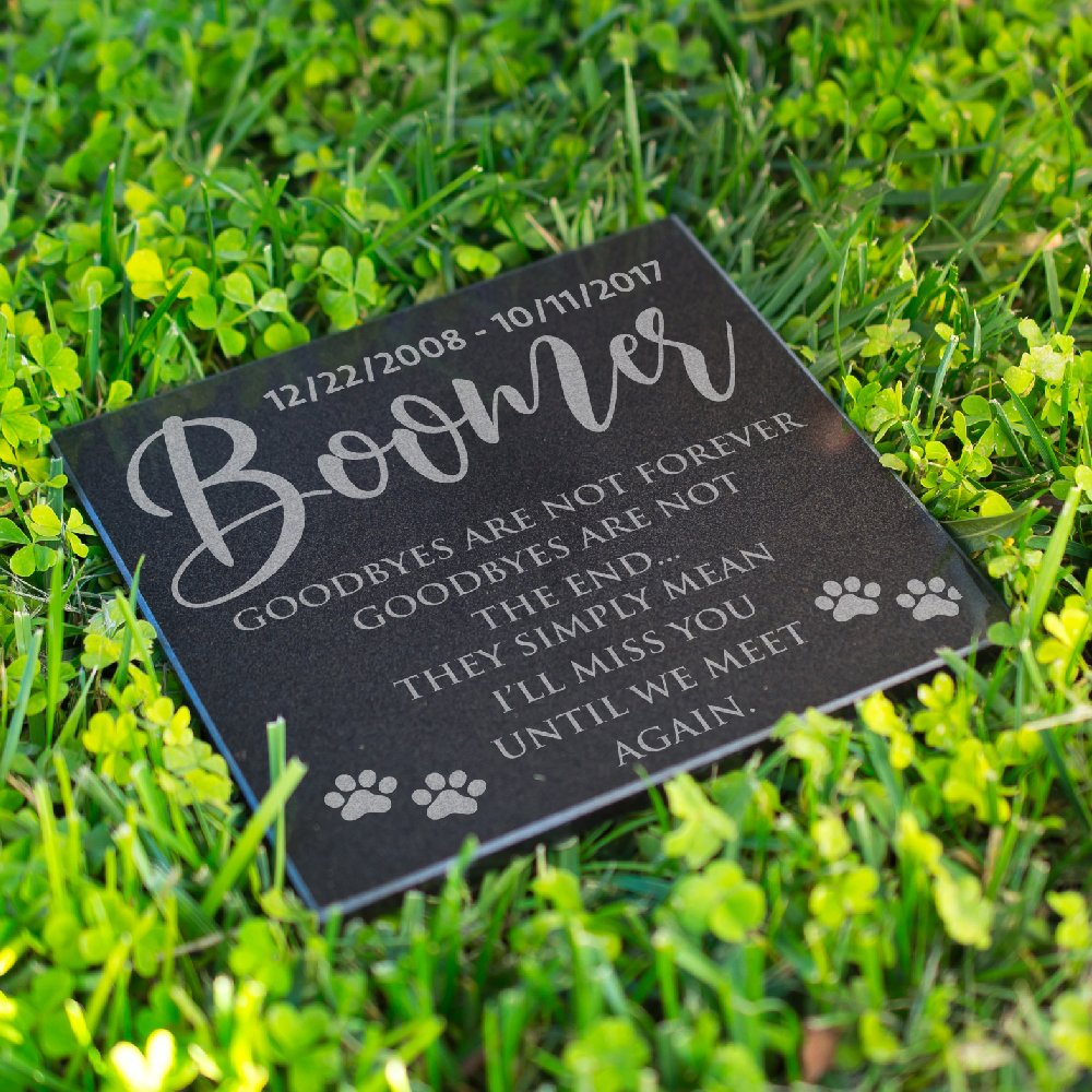 personalized pet grave marker for cats or dogs free customization