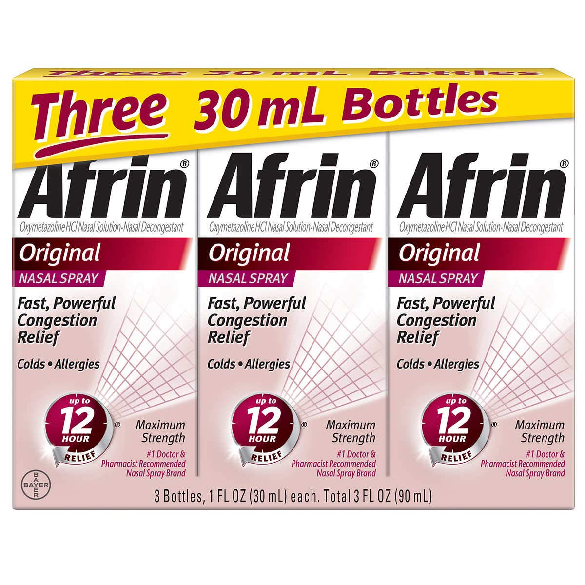 Afrin Original Maximum Strength 12 Hour Nasal Congestion Relief Spray - 30 mL