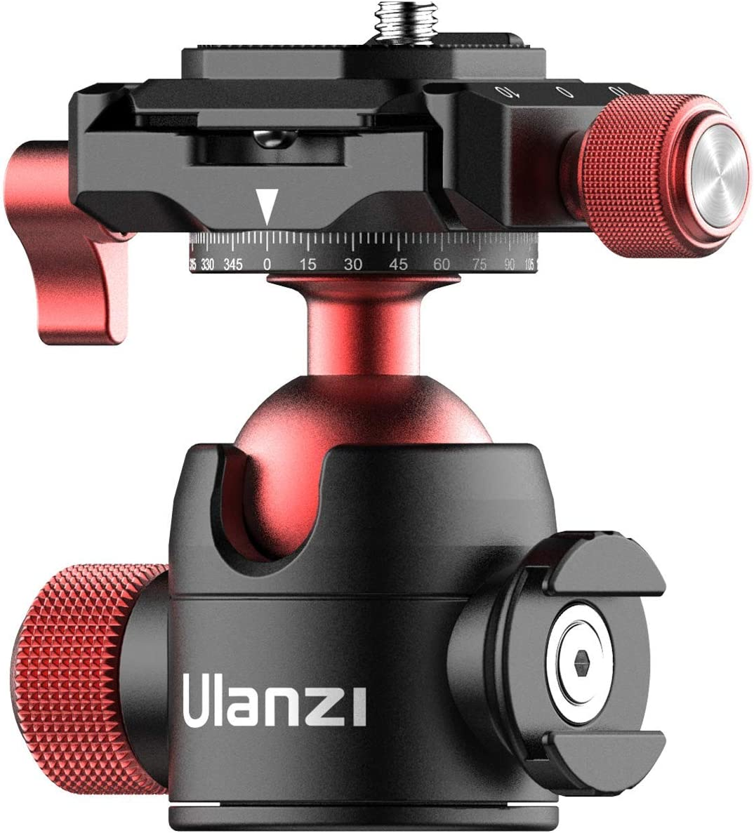 Tripod Head Quick Release Plate ULANZI U-70 Professional Metal 360° Panoramic Ball Head with Quick Release Plate & Cold Shoe, 44lbs/20kg Load, for Tripod, Monopod, Slider, DSLR, Camera, Camcorder : Camera & Photo