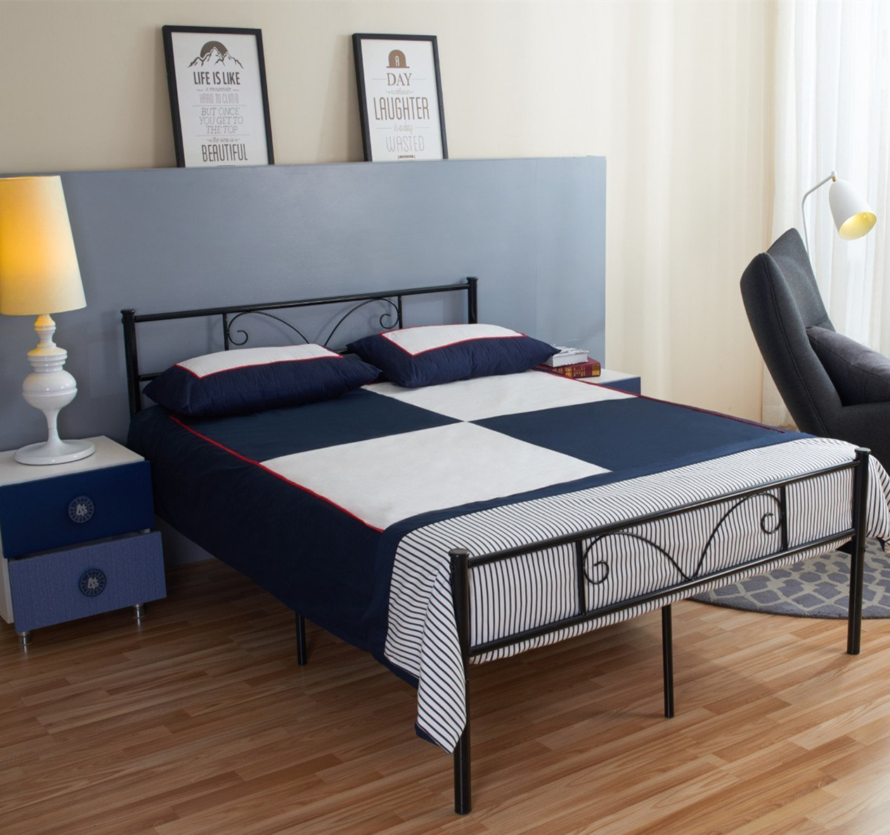 Full Size Beds Furniture: Amazon.com