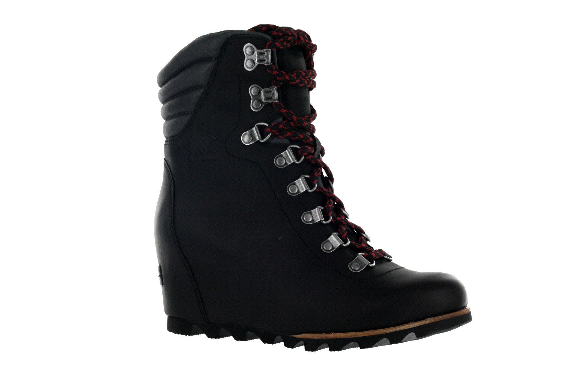 SOREL Women's Conquest Wedge Booties, Black, 8.5 B(M) US