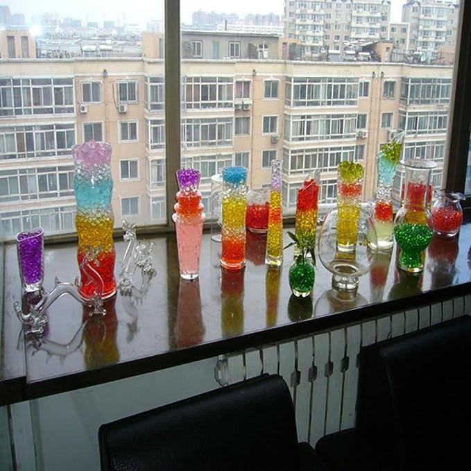 Wicemoon 12/couleurs m/élang/ées Cristal deau Gel Perles Perle deau Gel/ée boules de sol D/écoration Garnissage Vase D/écoration boules de cristal Environ 7000/pcs//sac