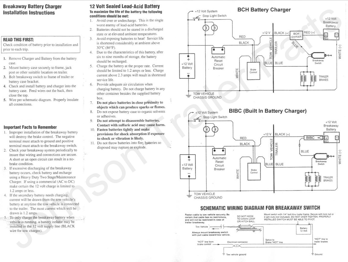 Breakaway Cell Diagram Wiring Libraries Batterycelldiagramjpg Amazon Com Trailer Kit Led Readout Switch