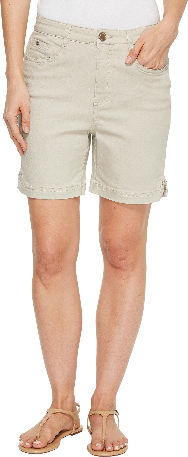 FDJ French Dressing Jeans Women's Sunset Hues Suzanne Shorts In Stone Stone 8 6