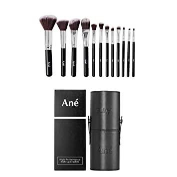 Ané Professional Makeup Brush Set & FREE Travel faux Leather Makeup Brush Holder - Practical Cosmetics
