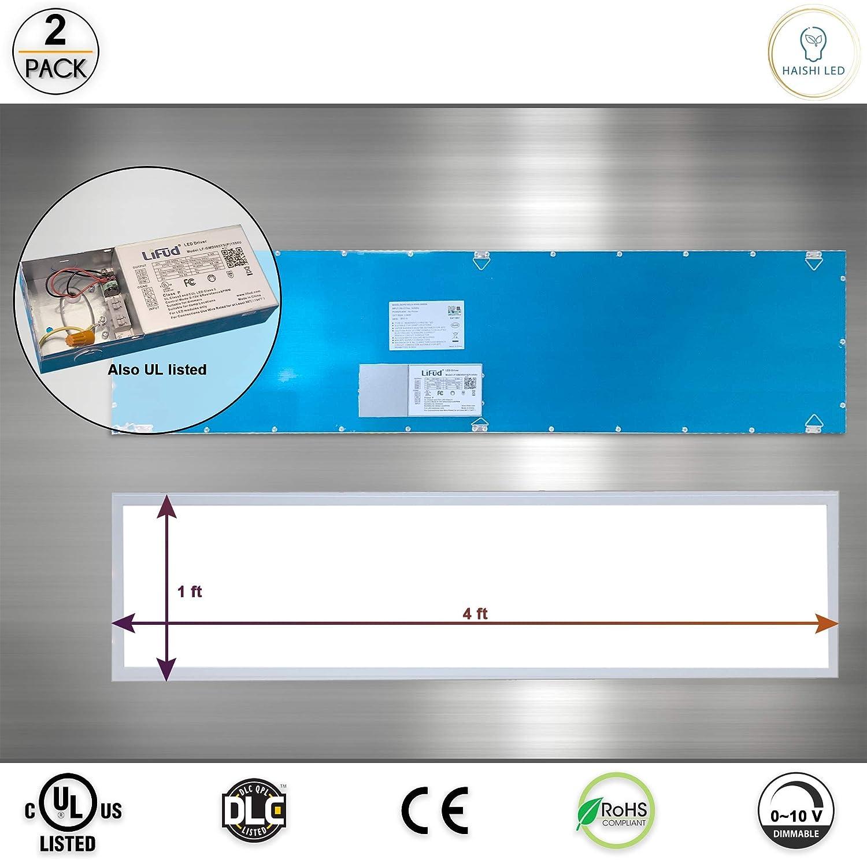 DLC-Qualified Daylight 5000K UL Listed 4500 Lumen,100-277v White Frame 2 Pack LED panel light 2x2 Ft 40W Dimmable,0-10v
