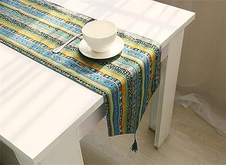 Hippolo National Style Ropa de mesa algodón corredor la mesa ...