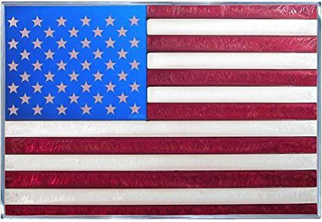 Stained Glass American Flag.American Flag 20 5 X 14 Horizontal Stained Glass Panel