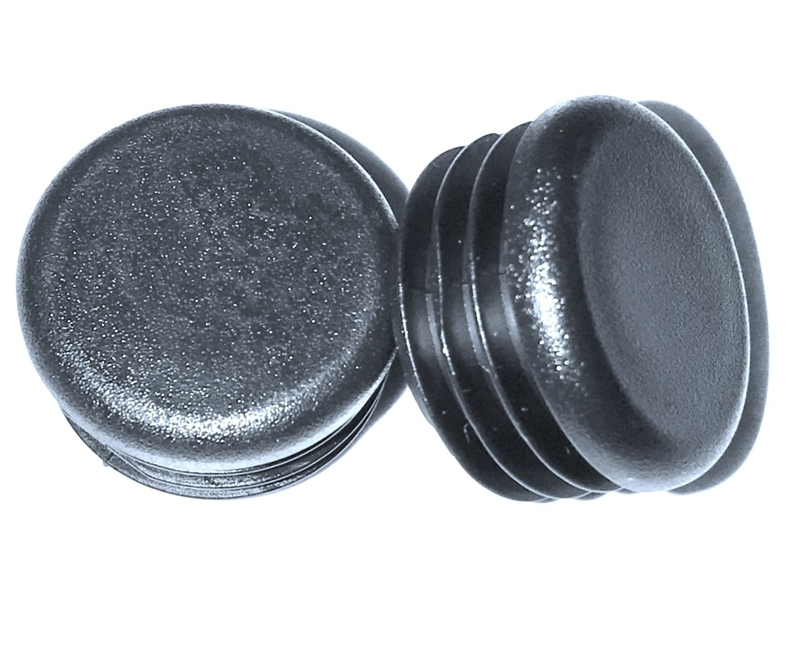 (Pack of 25) 7/8'' Round Snap-On Plastic Tubing Plug, (14 - 20 Ga - 0.71'' to 0.82'' ID) - Furniture Chair/Leg Pipe Tube Cover Insert | Fencing Post Sliding Inserts - End Caps for Fitness Equipment | by