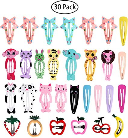 50pcs 5cm Metal Hair Clips Snap Barrette Baby Accessories Small Puppy Bows