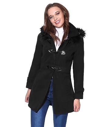KRISP Manteau Femme Duffle-Coat Mode  Amazon.fr  Vêtements et accessoires 46c68522b73