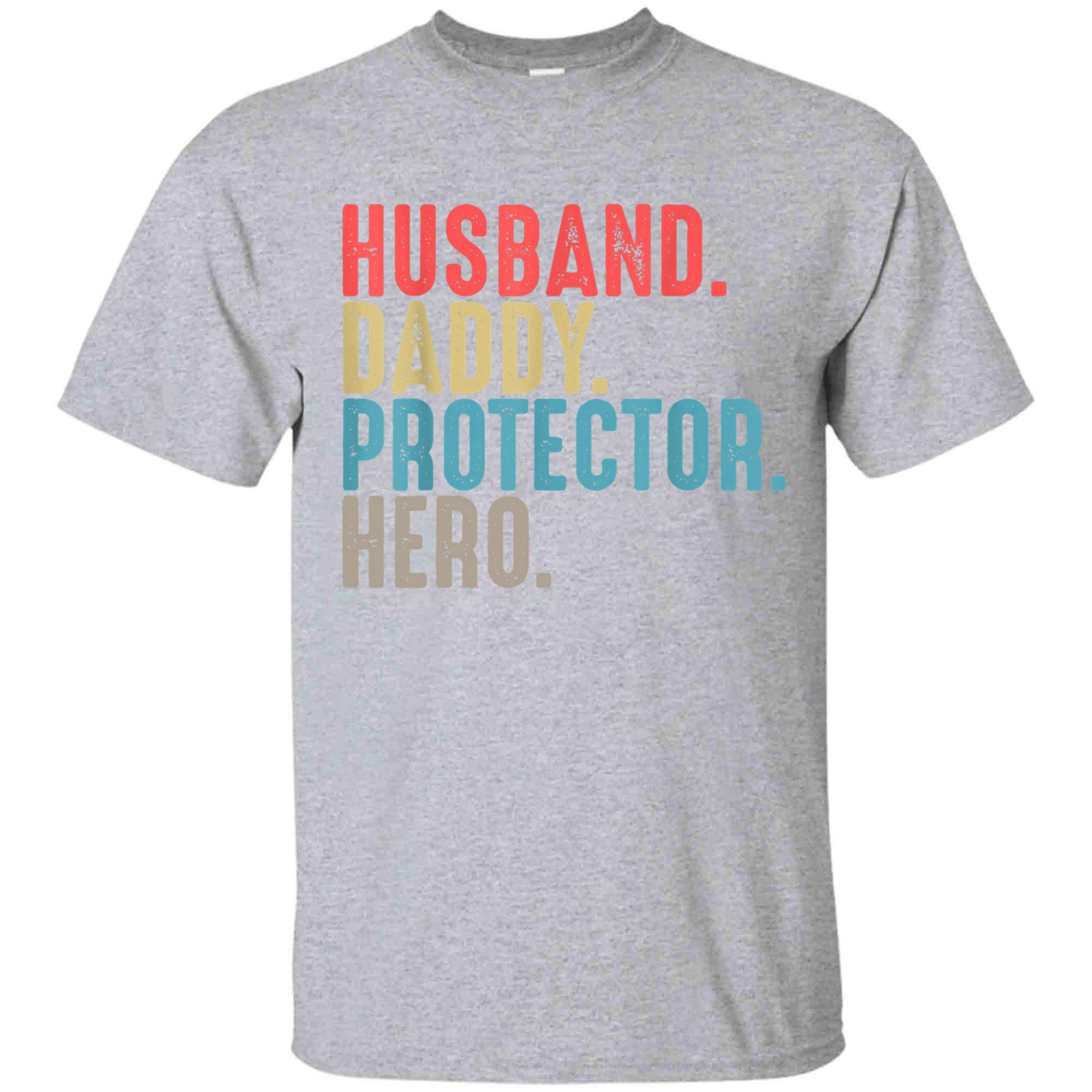 Rivolldirect Husband Daddy Protector Hero T Shirt For And 7942