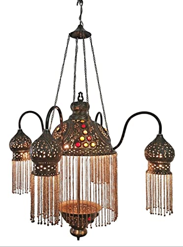 Sperry Industrial Bronze Chandelier 28 Wide Rustic Farmhouse Cylinder Scavo Glass 8-Light Fixture for Dining Room House Foyer Kitchen Island Entryway Bedroom Living Room – Franklin Iron Works