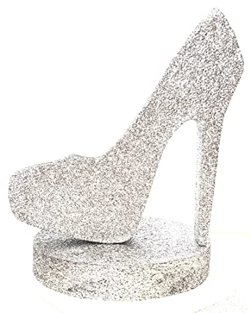 3615c457de6 Image Unavailable. Image not available for. Color  High Heel Centerpiece ( Silver Silver)