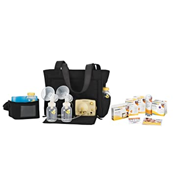 Amazon Com Medela Pump In Style Advanced Breast Pump Solution Set On The Go Tote Electric Double Breast Feeding Pumps Baby