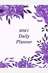 """2021 Daily Planner Large Print 8.5""""x11"""" Paperback"""