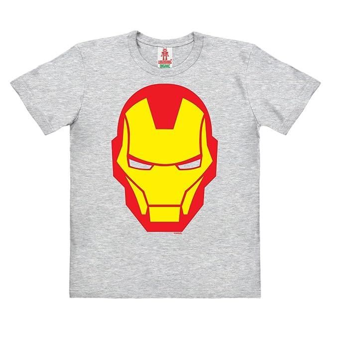 Logoshirt Marvel Comics - Iron Man Icono Camiseta 100% Algodón Ecológico Para Niño - Gris