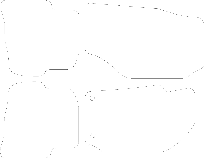 Connected Essentials CEM650 Car Mat Set for Seat Ibiza Grey with Grey Trim Premium 2002-2008