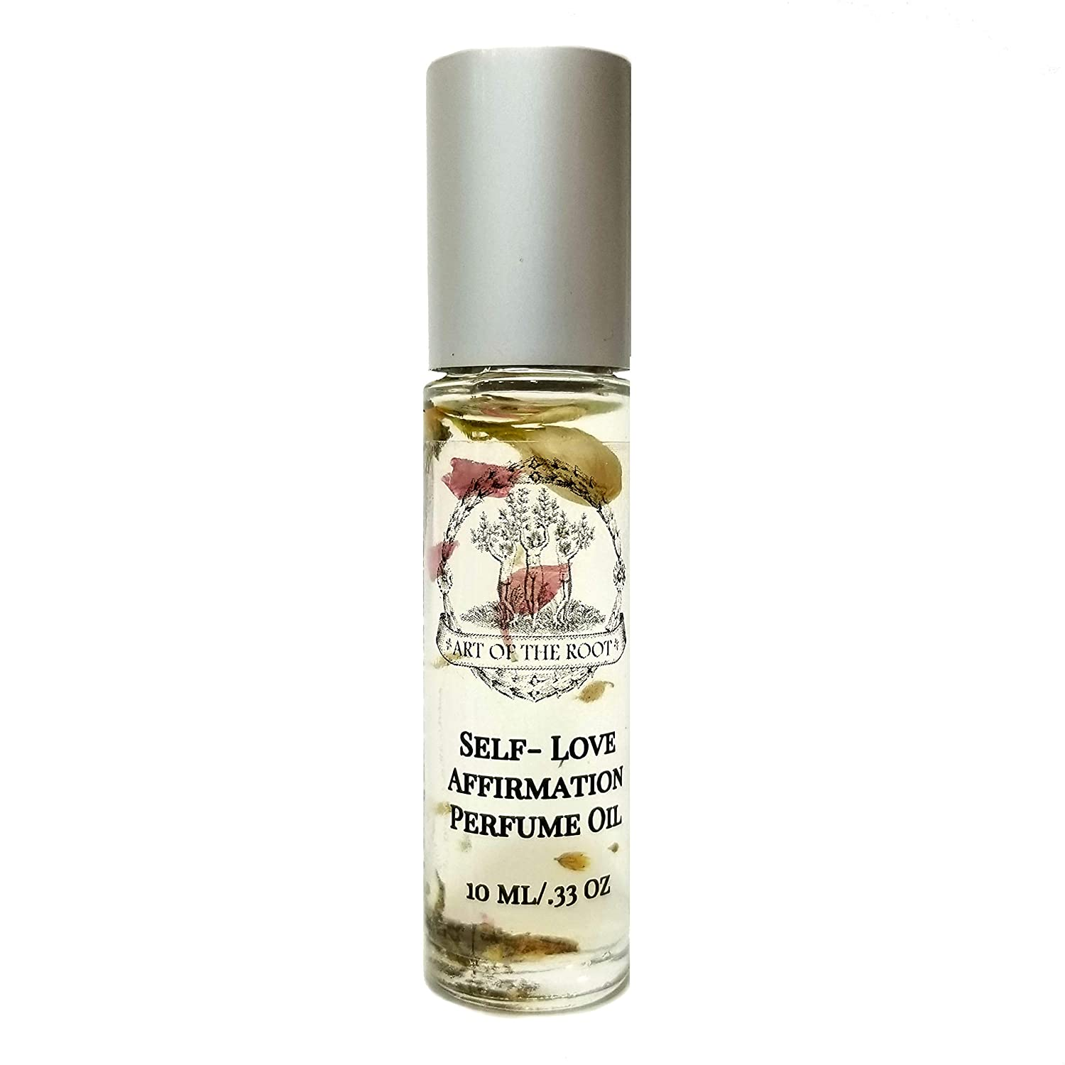 Self-Love Affirmation Roll-On Perfume Oil 1/3 oz for Healing, Loss, Acceptance & Self-Worth Wiccan Pagan Hoodoo
