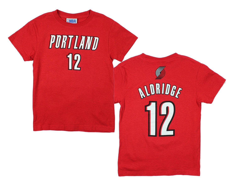 Portland Trail Blazers LaMarcus Aldridge #12 NBA Little Boys / Big Boys Short Sleeve Tee, Red OUTERSTUFF