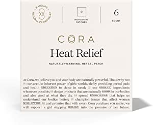 Heat Relief Patch by Cora - Soothe Cramps for up to 8 Hours with Heat from Activated Carbon - Adheres to Your Clothes to Ease Cramps Exactly Where You Need it