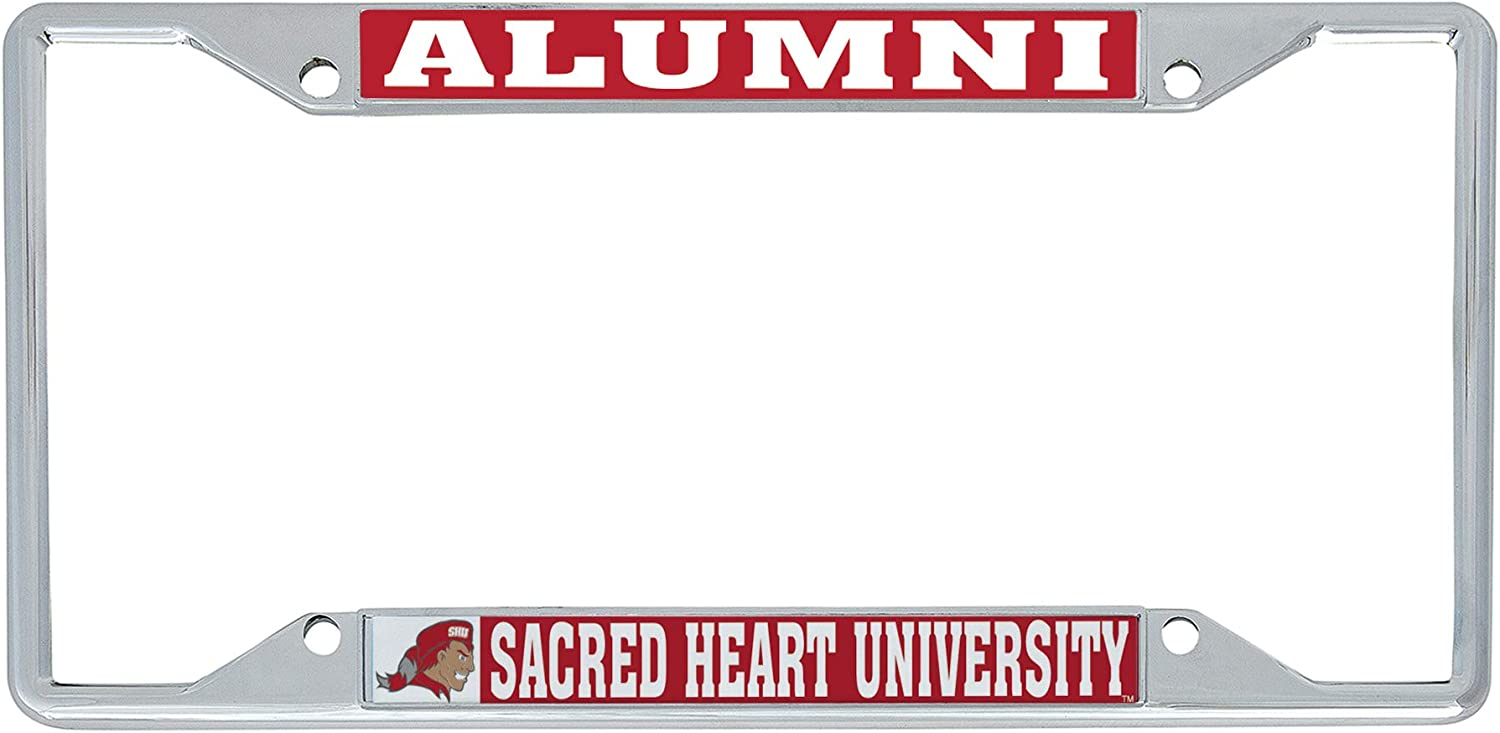 Alumni Desert Cactus Sacred Heart University Pioneers NCAA Metal License Plate Frame for Front Back of Car Officially Licensed