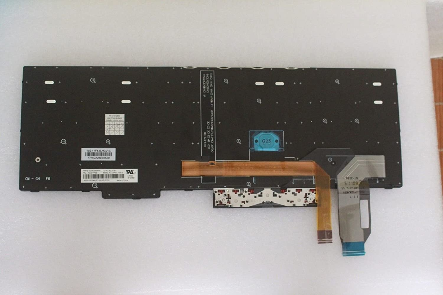 Almencla Keyboard Kit US Layout Replacement Compatible with Lenovo Thinkpad E580 L580